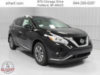 Options:  2017 Nissan Murano Sl|Magnetic Black