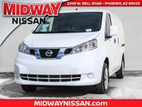 2017 Nissan NV200 SV 26/24 Highway/City MPG  Options:
