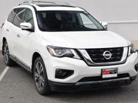 CARFAX One-Owner. Glacier White 2017 Nissan Pathfinder