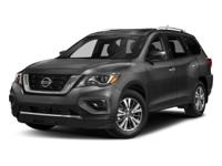 This 2017 Nissan Pathfinder S has an exterior color of