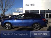 CARFAX One-Owner. Caspian Blue 2017 Nissan Pathfinder