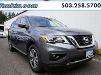 2017 Nissan Pathfinder V6 Gray CARFAX One-Owner. Clean