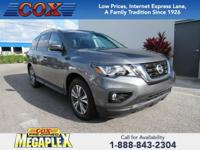 This 2017 Nissan Pathfinder S in Grey is well equipped