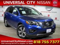 Clean CARFAX. Certified. Blue 2017 Nissan Pathfinder SV