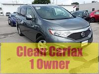 CARFAX One-Owner. Clean CARFAX. Gray 2017 Nissan Quest