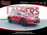 Clean CARFAX. Red 2017 Nissan Rogue AWD CVT with