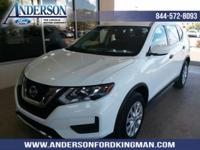 Glacier White 2017 Nissan Rogue S AWD CVT with Xtronic