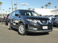 Clean CARFAX. Certified. Black 2017 Nissan Rogue S FWD