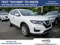 Glacier White 2017 Nissan Rogue S FWD CVT with Xtronic