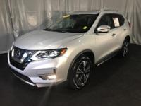 Clean CARFAX. Brilliant Silver 2017 Nissan Rogue SL FWD