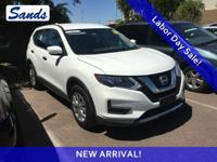 Clean CARFAX. Glacier White 2017 Nissan Rogue S FWD CVT