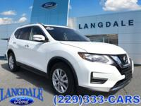 CARFAX One-Owner. Clean CARFAX. White 2017 Nissan Rogue
