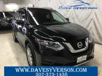 Magnetic Black 2017 Nissan Rogue SV AWD CVT with