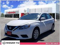 This 2017 Nissan Sentra S has an exterior color of WH.