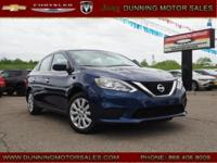 Deep Blue Pearl 2017 Nissan Sentra SV FWD CVT with