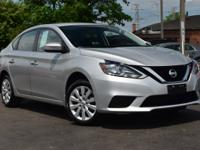Clean CARFAX. Brilliant Silver 2017 Nissan Sentra S FWD