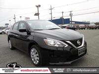 Clean CARFAX. Black 2017 Nissan Sentra S FWD CVT with