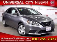 Clean CARFAX. Certified. Gray 2017 Nissan Sentra S 4D