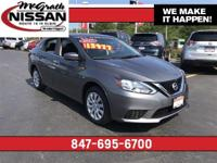 2017 Nissan Sentra S CARFAX One-Owner.McGrath Nissan is