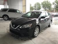 Super Black 2017 Nissan Sentra S FWD CVT with Xtronic