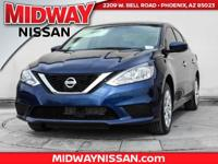 2017 Nissan Sentra S CVT with Xtronic, Black.Awards:  *