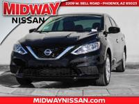 2017 Nissan Sentra S CVT with Xtronic, Charcoal w/Cloth