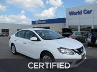 EPA 37 MPG Hwy/29 MPG City! Nissan Certified, Excellent
