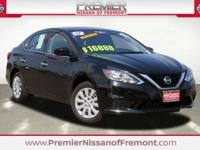 Clean CARFAX. Certified. Super Black 2017 Nissan Sentra