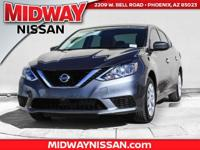 2017 Nissan Sentra SV CVT with Xtronic, Charcoal