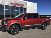 CARFAX One-Owner. Cayenne Red 2017 Nissan Titan PRO 4WD