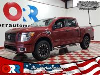 2017 Nissan Titan PRO Cayenne Red  Options:  Navigation