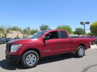 Options:  2017 Nissan Titan S|Red|Carfax One-Owner.