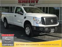 New Price! 2017 Nissan Titan XD S 4X4 CARFAX One-Owner.