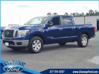 Deep Blue Pearl 2017 Nissan Titan SV 4WD 7-Speed