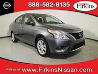 CARFAX One-Owner. Clean CARFAX. Gray 2017 Nissan Versa