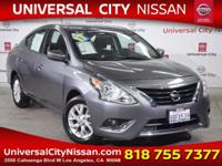 Clean CARFAX. Certified. Gray 2017 Nissan Versa 1.6 SV