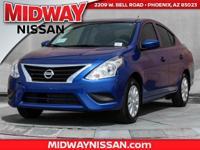 2017 Nissan Versa 1.6 S Plus 40/31 Highway/City MPG