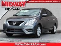2017 Nissan Versa 1.6 SV 39/31 Highway/City MPG