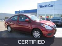 EPA 39 MPG Hwy/31 MPG City! CARFAX 1-Owner, Nissan
