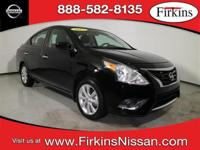 CARFAX One-Owner. Clean CARFAX. Black 2017 Nissan Versa