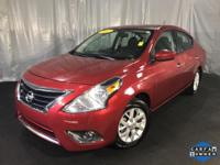 CARFAX One-Owner. Cayenne Red 2017 Nissan Versa 1.6 SV