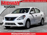 2017 Nissan Versa 1.6 S Plus 40/31 Highway/City MPG