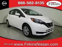CARFAX One-Owner. Clean CARFAX. White 2017 Nissan Versa