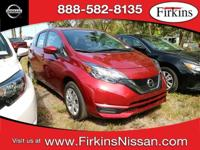 CARFAX One-Owner. Clean CARFAX. Red 2017 Nissan Versa