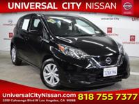 Clean CARFAX. Certified. Black 2017 Nissan Versa Note S
