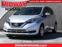 2017 Nissan Versa Note S Plus 39/31 Highway/City MPG