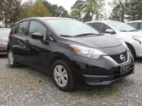 Super Black 2017 Nissan Versa Note SV FWD CVT with