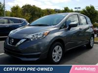 This CERTIFIED PREOWNED Versa Note passed Nissan's