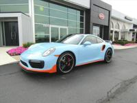 Pre-Owned 2017 Porsche 911 Turbo in Gulf Blue with