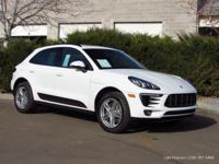 2017 Macan 5-passenger SUV in white with garnet red